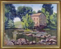 Mary J Carter 25x32 O/C Indiana Mill House
