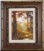Wanda Locke 9x12 O/B Autumn Landscape