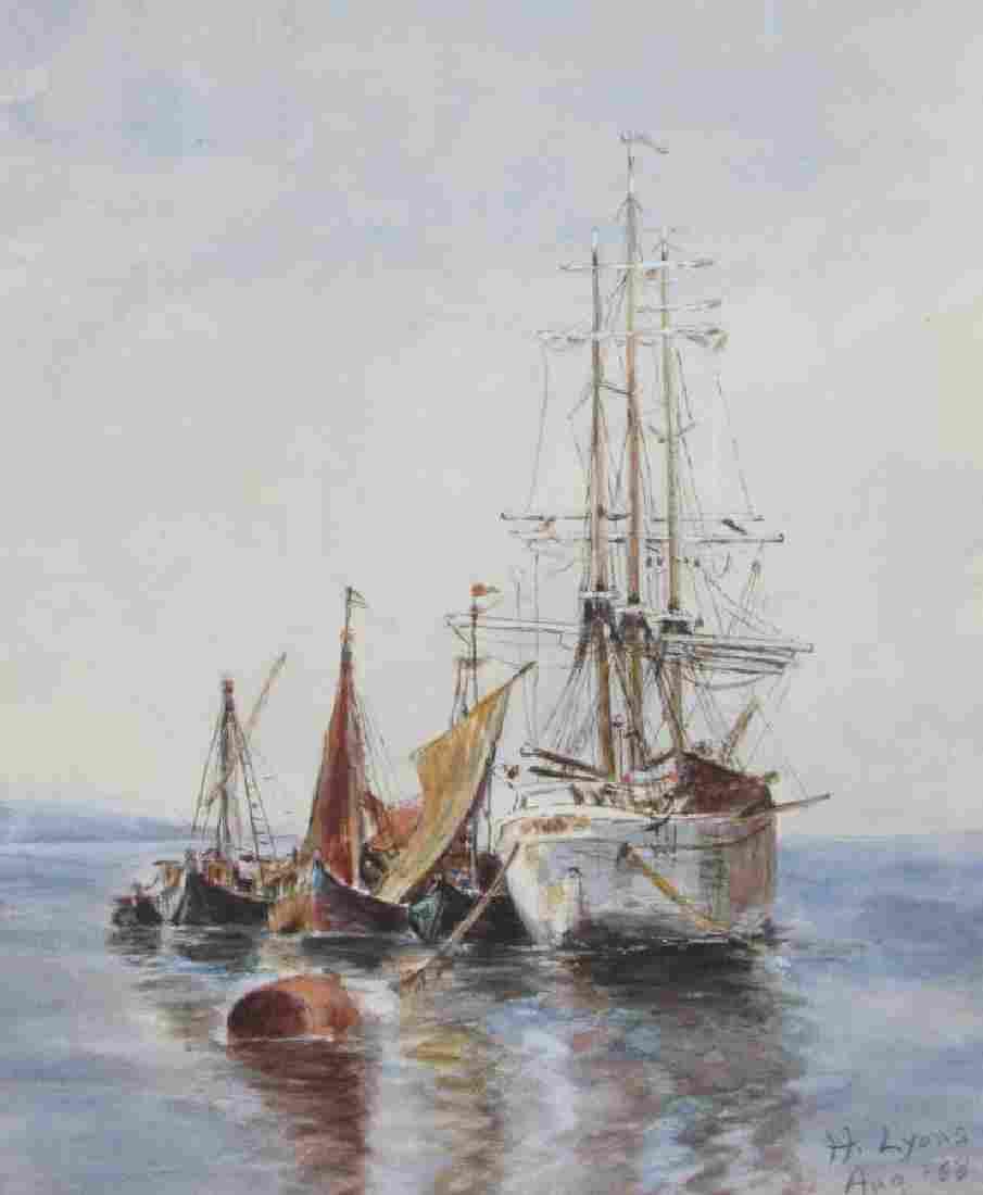 Harley Lyons 9x11 WC Sailing Vessels