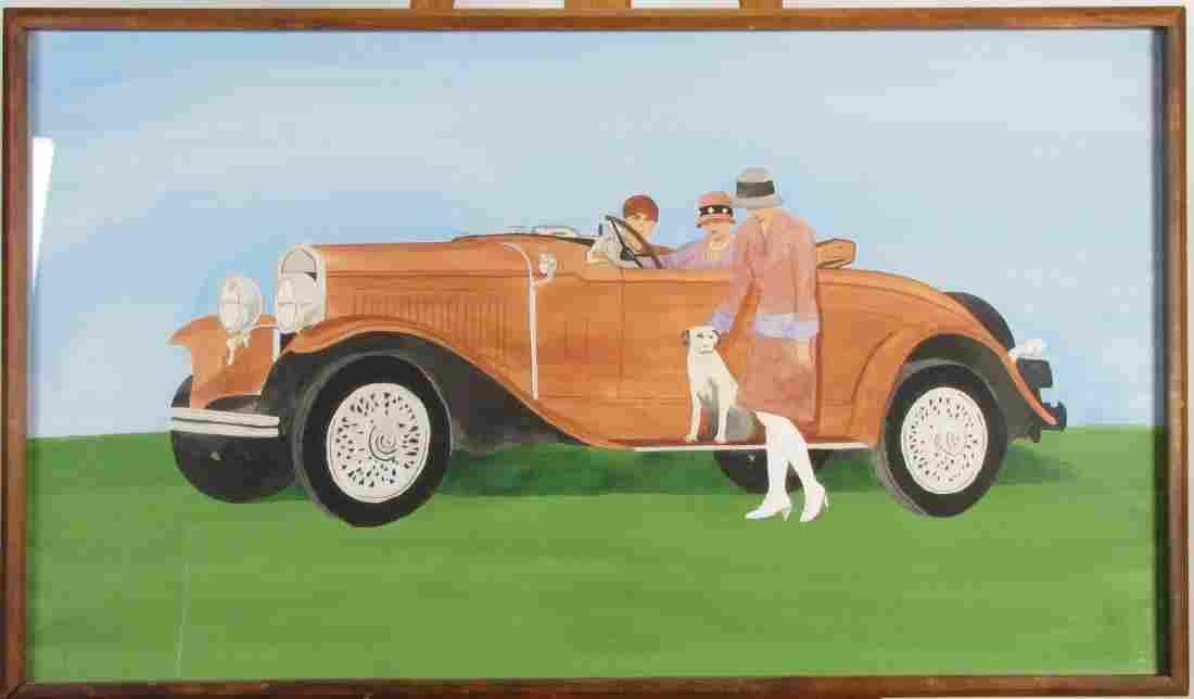 Voorhees 23x40 WC Women in Classic Car