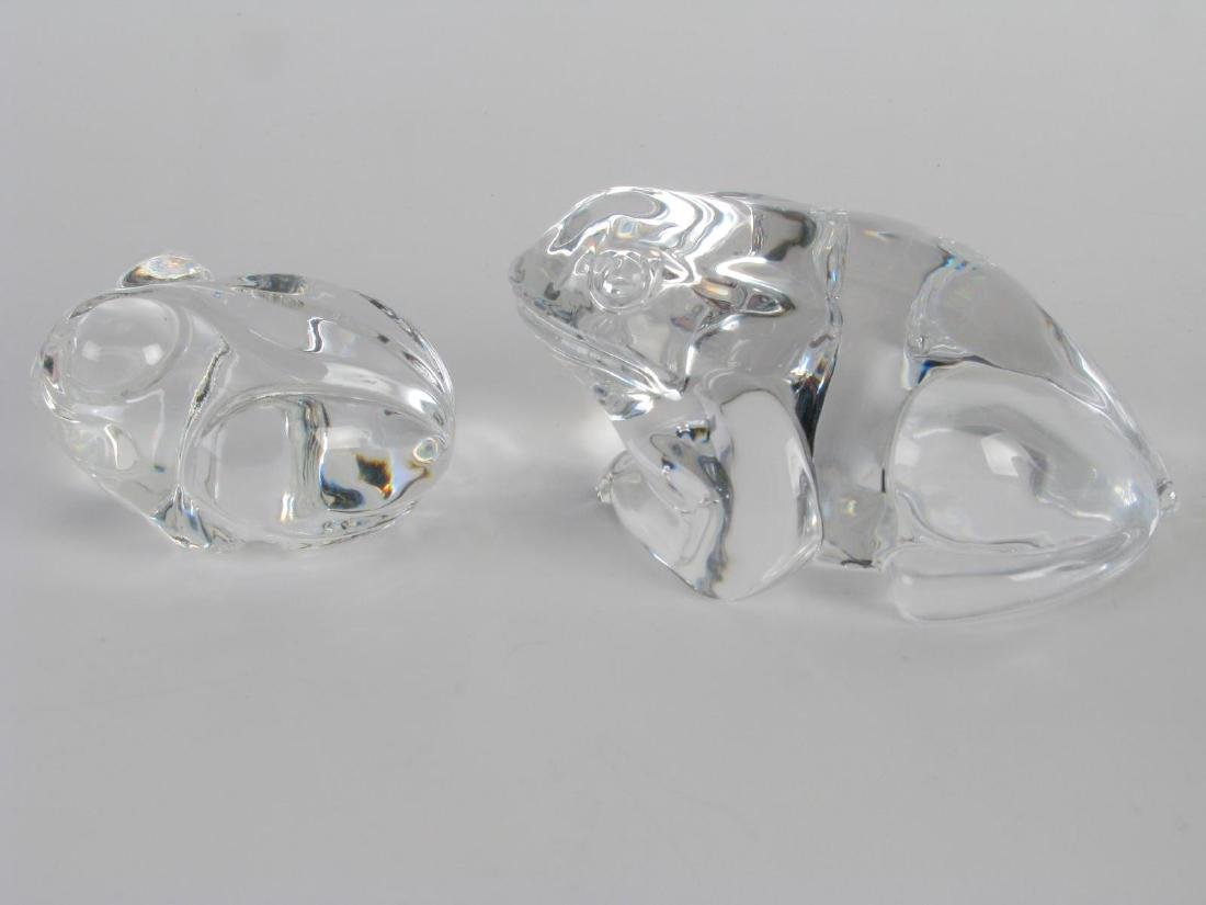 Group of Signed Crystal Frog Paperweights - 3