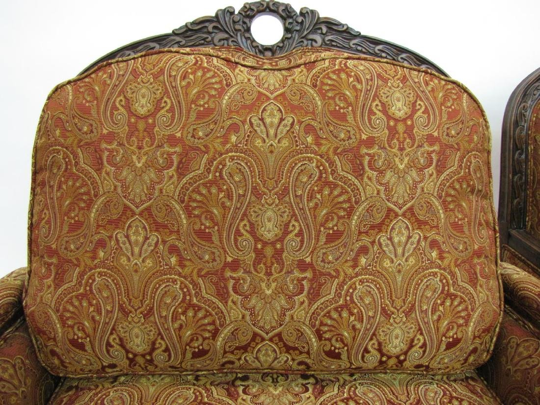 Pair of Decorator Upholstered Arm Chairs - 5