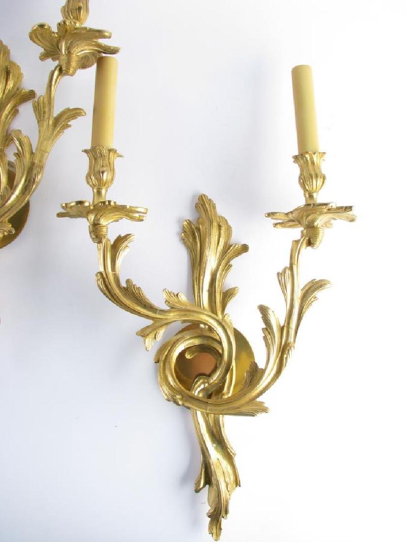 Two Pair of Bronze Wall Sconces - 2