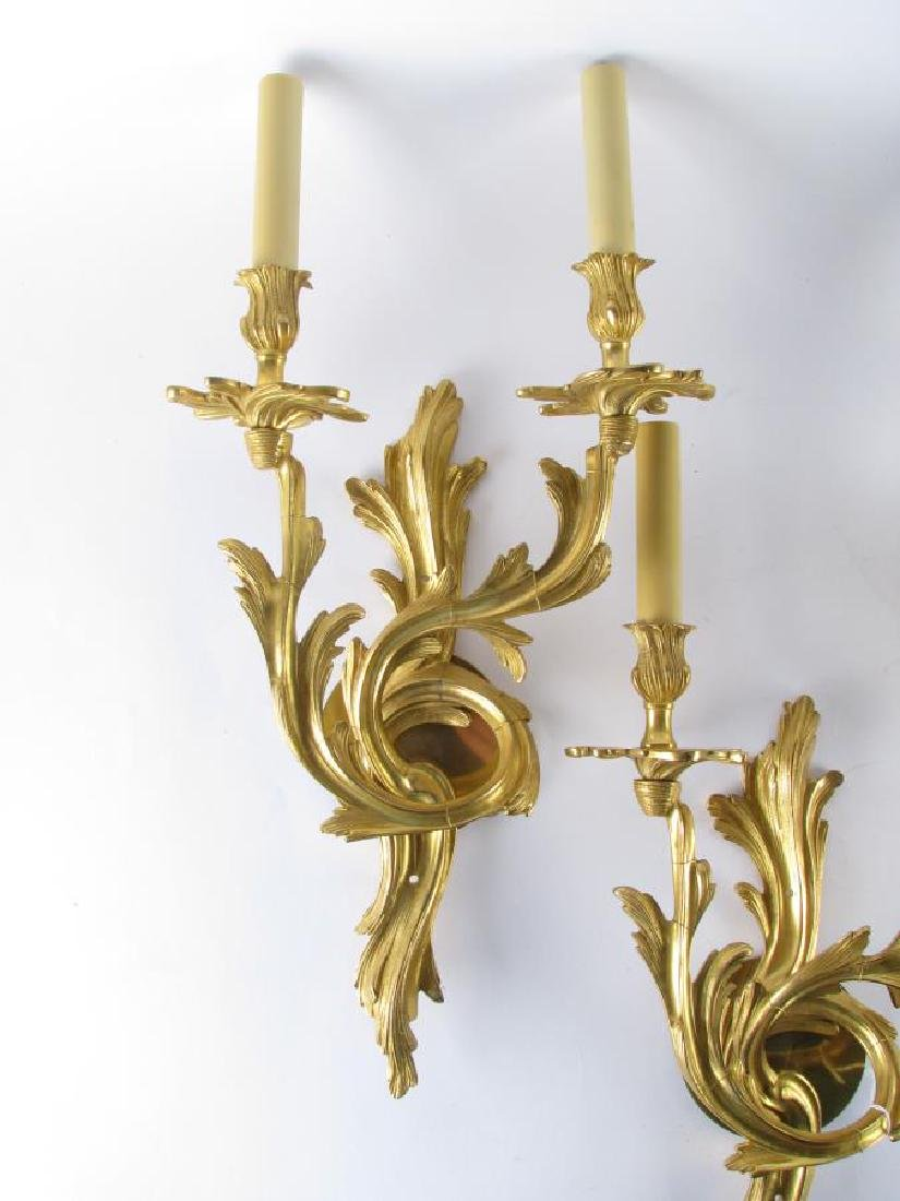 Two Pair of Bronze Wall Sconces - 3