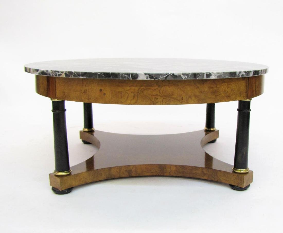 Baker Furniture Marble Top Cocktail Table