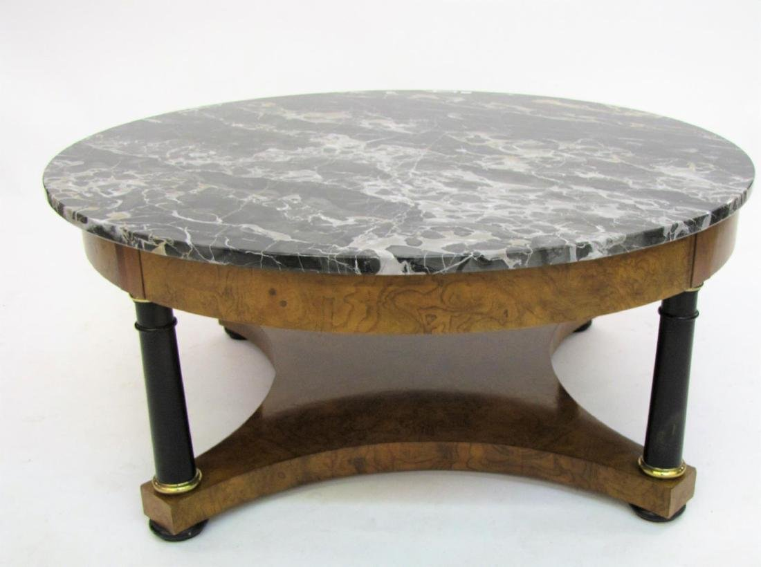 Baker Furniture Marble Top Cocktail Table - 2