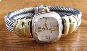 14K/Sterling David Yurman MOP Watch