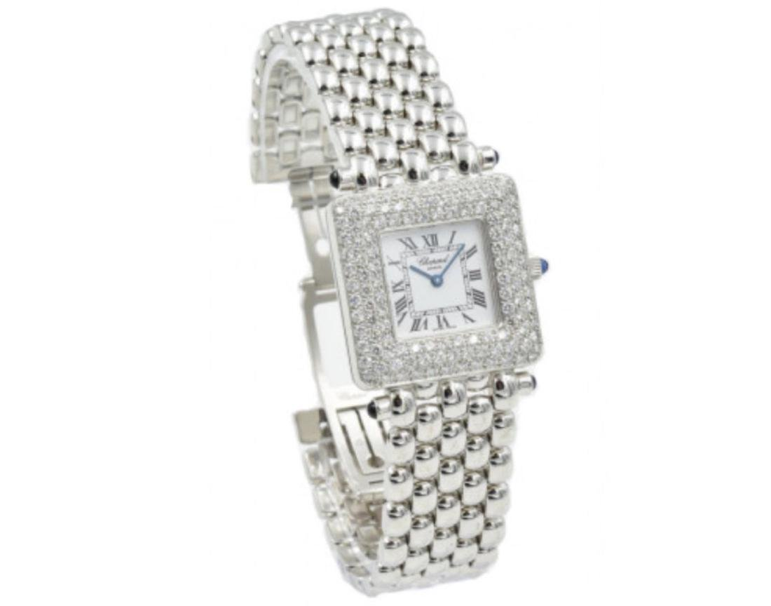 Preowned; Like New-Chopard 18K White Gold Ladies 1