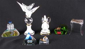 Group of Glass and Porcelain Decorative Items