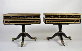 Pair Painted Storage End Tables Elsie Connelly