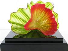"Dale Chihuly Art Glass, ""Chartreuse Persian"""