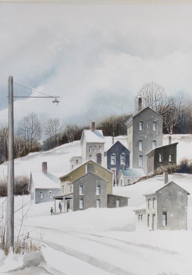 Wilbur Meese 27x20 WC Winter Village