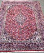 Handmade Mashad Room Size Rug