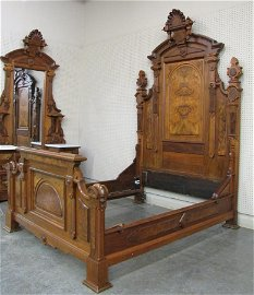 Exceptional Victorian Bed and Matching Dresser