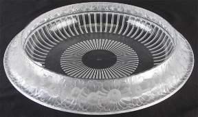 Lalique Marguerites Crystal Centerpiece Bowl