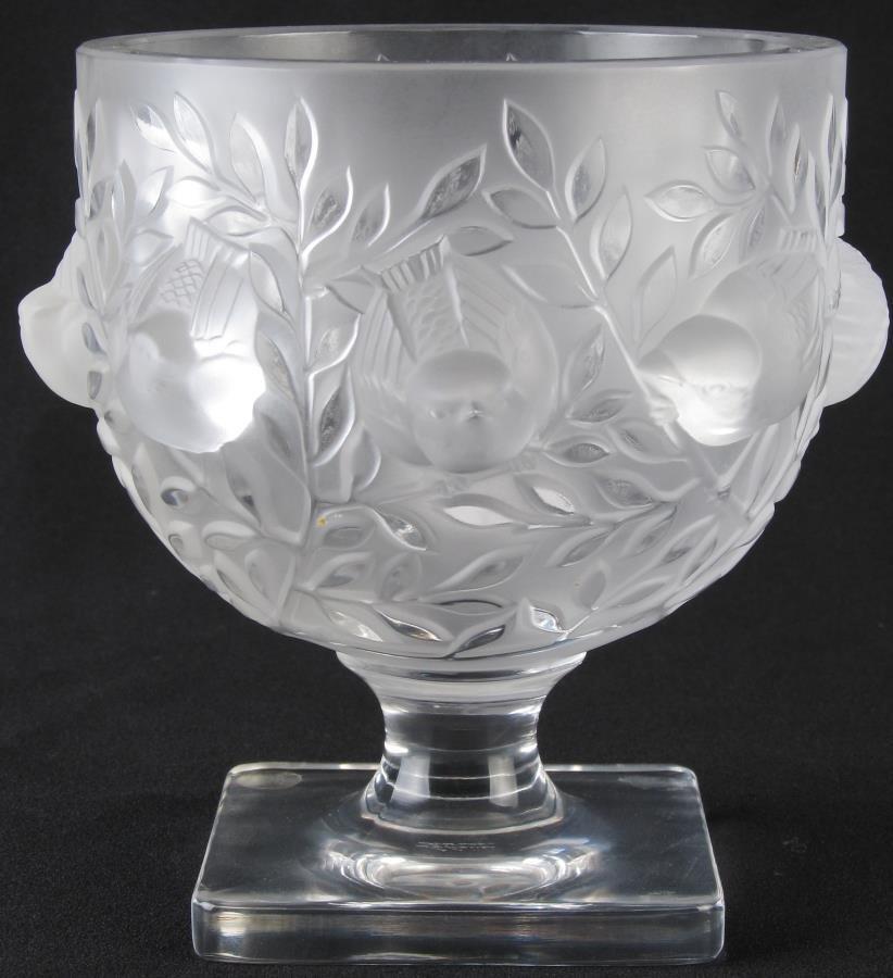 Lalique 'Elisabeth' Crystal Compote