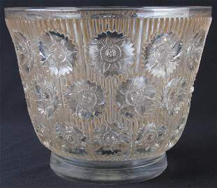 Rene Lalique 'Edelweiss' Crystal Vase