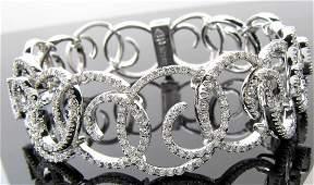 18K White Gold Stefan Hafner Diamond Bracelet