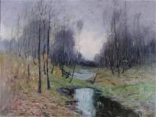 George Herbert Baker 30x40 OC Autumn Landscape