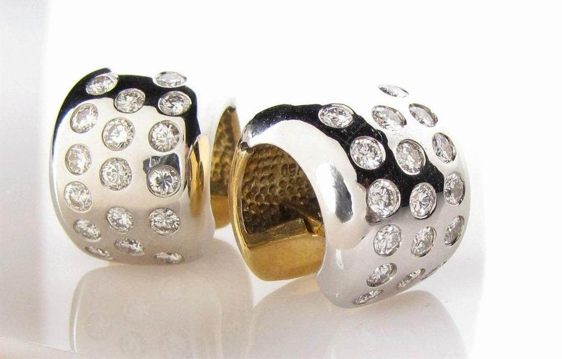 18K Huggie Diamond Earrings