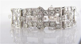 Platinum Vintage 8.5CT+ Diamond Bracelet