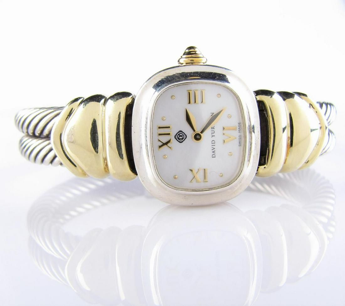 David Yurman 14K, Sterling Quartz Watch