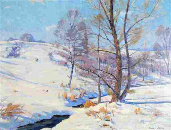 "Frank V Dudley 23x30 O/C ""Thru Drifted Snow"""