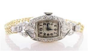 Lady's Hamilton 14K, Diamond Wristwatch