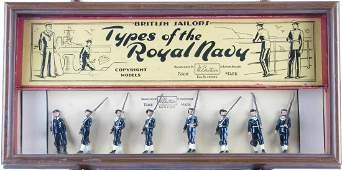 Britains set of British Sailors in Shadowbox Frame