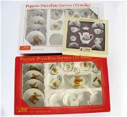 Three Steiff Miniature Porcelain Sets