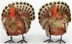 Two Vintage Steiff Turkeys 13140