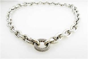 David Yurman Medium Link Chain Diamond