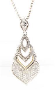 NEW John Hardy Legends Diamond Naga Pendant