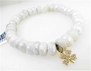 NEW Sydney Evan White Moonstone Bracelet