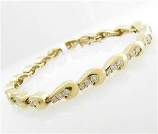 18K Yellow Gold Diamond Link Bracelet