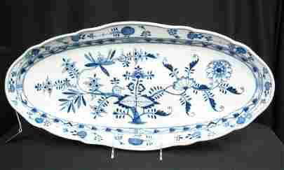 Meissen Blue Onion Fish Platter