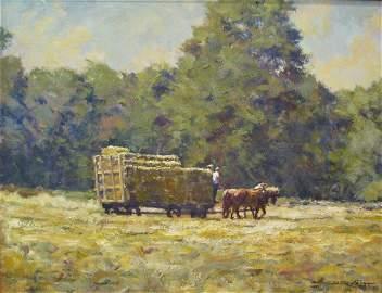 Todd Reifers 14x18 O/B Hay Wagon