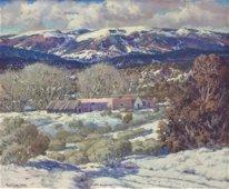 """Carl Von Hassler 25x30 O/C """"Winter in Tesuque..."""""""