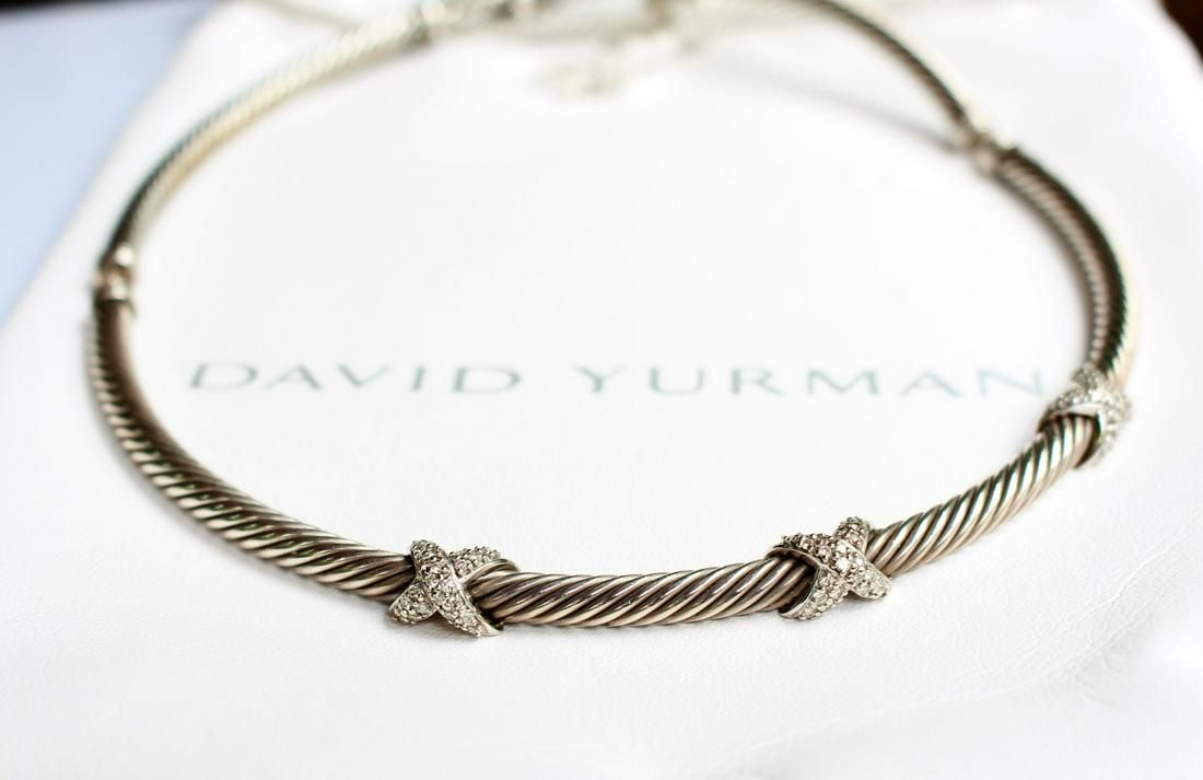 David Yurman Triple X Diamond Necklace