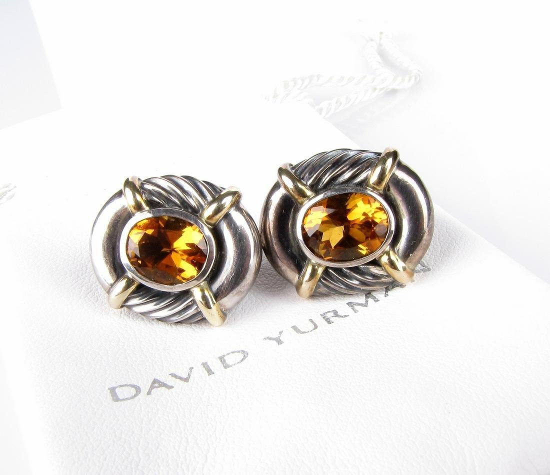 Pair of David Yurman Citrine Earrings