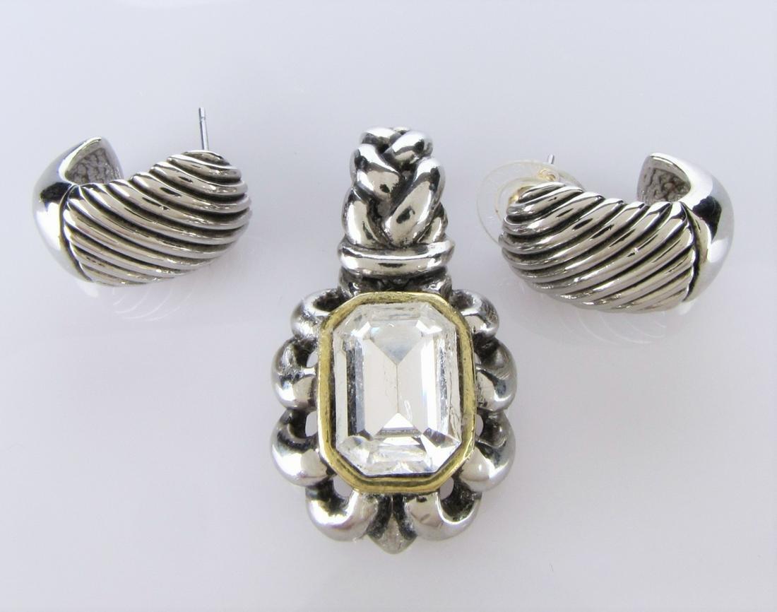 Fashion Earrings and Pendant, Leiber?