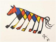 """Alexander Calder Lithograph, """"Beastie"""""""