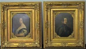 Unsigned Pr Oil, Antique Painted Folios