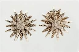 DAVID YURMAN STARBURST STERLING DIAMOND EARRINGS