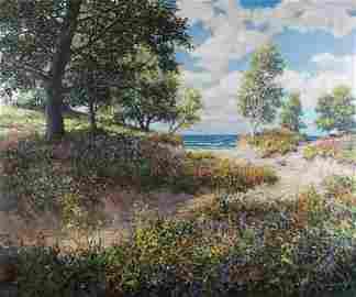 Todd Reifers 40x48 O/C Indiana Dunes Lakeshore