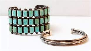Navajo Cuff Bracelet, Silver Bangle