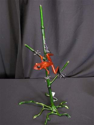 """Tim Cotterill (Frogman) Bronze Sculpture, """"Bamboo"""""""