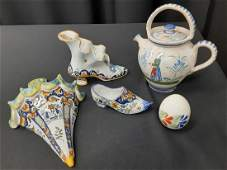 Group of French Faience Quimper