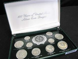 100 Years of US Silver Coin Designs, Set