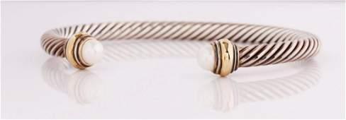 David Yurman Pearl Cable Cuff
